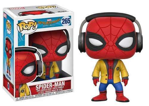 Funko Pop Spiderman Homecoming Con Audifonos Y Chaqueta #265