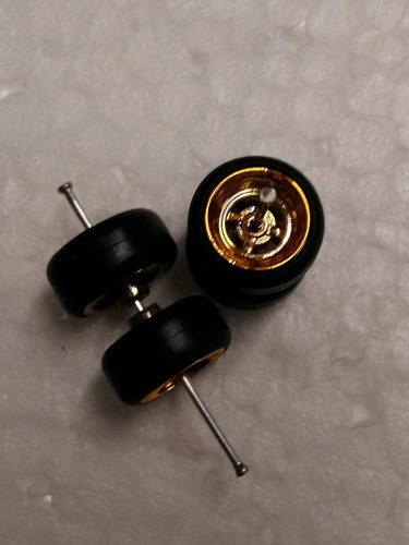 Gomas Para Custom 1:64 Llantas Rin Dorado Lisas Hot Wheels