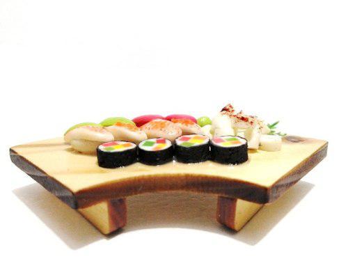 Hermosa Barra S2 Kawaii Sushi Miniatura Para Casa De Muñeca