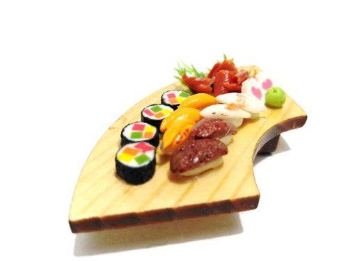 Hermosa Barra S3 Kawaii Sushi Miniatura Para Casa De Muñeca