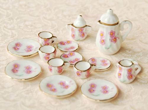 Hermoso Juego De Te Miniatura Porcelana Fina M Daysi