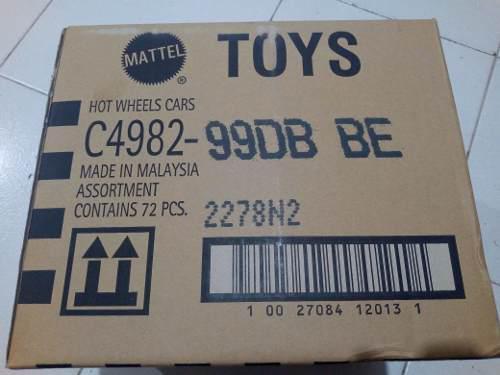 Hot Wheels Caja A O B 2019 72 Pz Autos Basicos Mattel