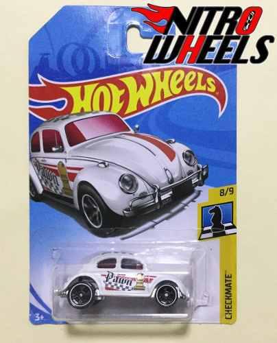 Hot Wheels Checkmate Volkswagen Beetle Blanco 8 De 9