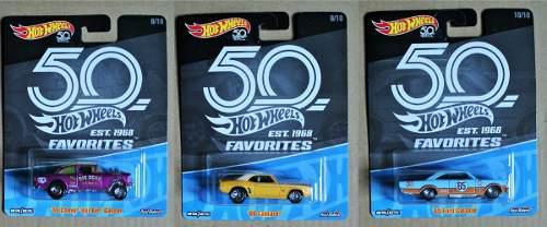 Hot Wheels Favorites 50th Aniversario Est 1968 Serie 2 Indiv