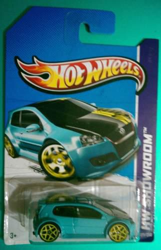 Hot Wheels Volkswagen Golf Gti 2013 Azul Showroom