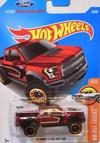 Hotwheels '17 Ford F 150 Raptor #10 2017