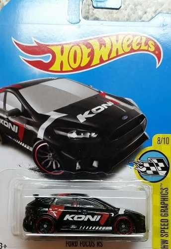 Hotwheels Ford Focus Rs #176 2017 Koni Negro