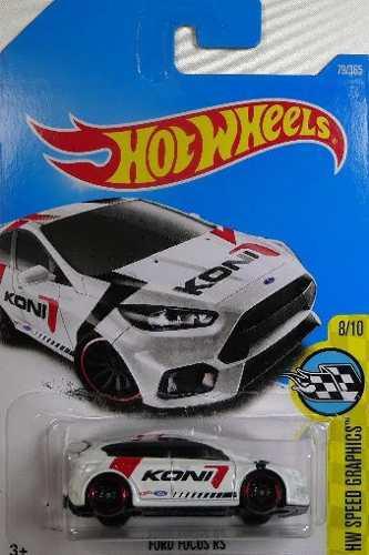 Hotwheels Ford Focus Rs #79 2017 Koni Blanco