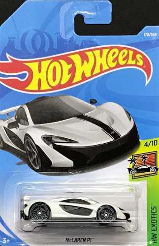 Hotwheels Mc Laren P1 170 2018 Blanco
