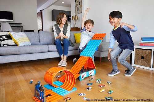 Mattel Hot Wheels Playset Track Builder, Mega Caja 3 En 1