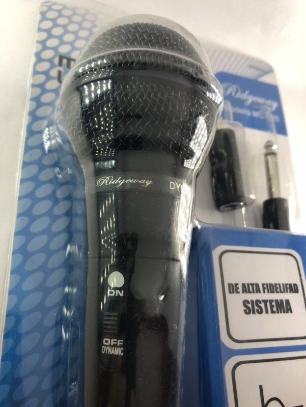 Micrófono alambrico universal 3.5mm y 6.3mm