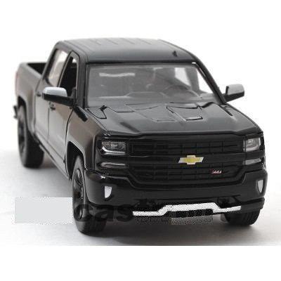 Motor Max 1:24 - 2017 Chevrolet Silverado 1500 Lt Z71 Negra