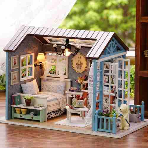 Muñeca En Miniatura De La Casa De Studio Kit Con Luz Led Mu