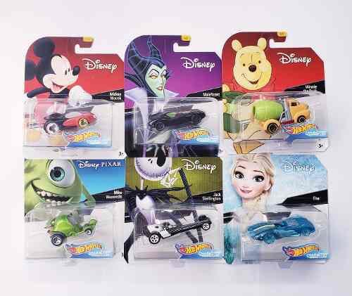 Oferta Hot Wheels 6 Coleccion Mickey Frozen Jack Disney !!