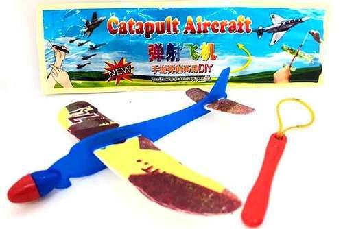 Pack Con 40 Avión De Unicel Con Catapulta Lanzadora