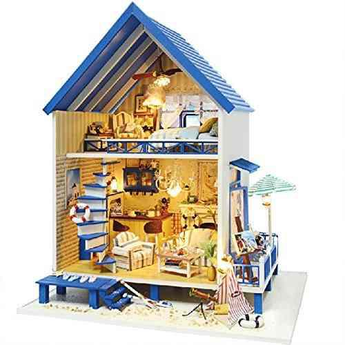 Rylai A Mano De Madera Casa De Muñecas En Miniatura Diy Kit