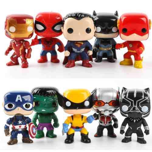 Set Los Vengadores Y Liga De La Justicia Compatible Funko