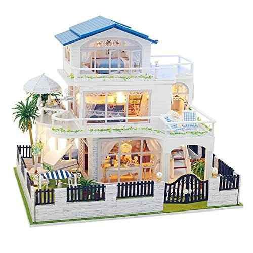 T-yu Dollhouse Miniatura Diy Kit De Casa Con Muebles Bonito