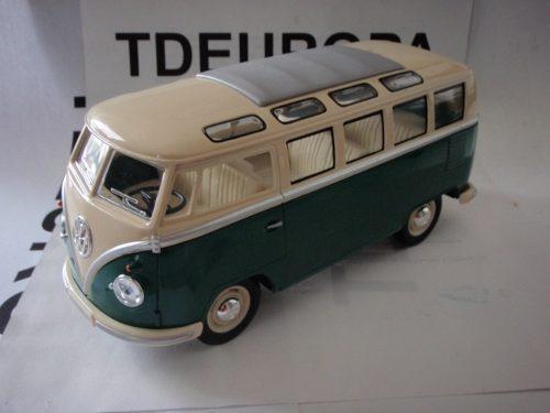 Vw Combi 1962 Esc: 1/24 Kinsmart Autos Coleccion Verde