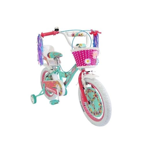 Bicicleta Benotto Flower Power Cross Acero R16 Niña Aqua