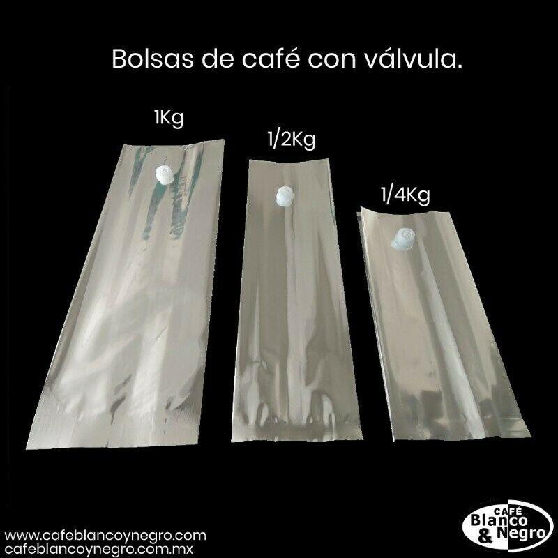 Bolsa Metalizada Con Valvula De 1, 1/2 y 1/4Kg