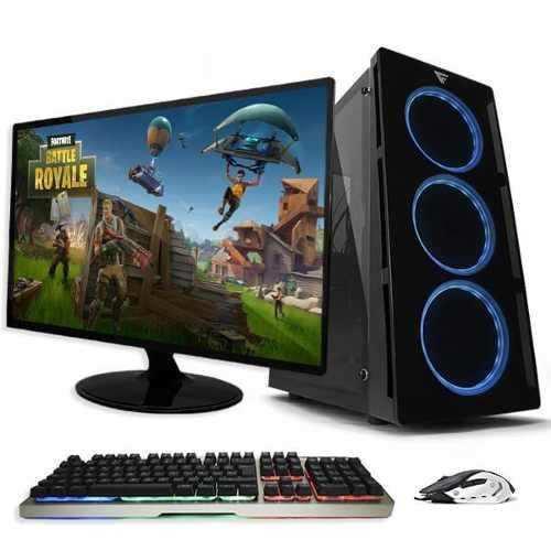 Cpu Gamer Fortnite R5 2400g 1tb 8gb Monitor + Accesorios