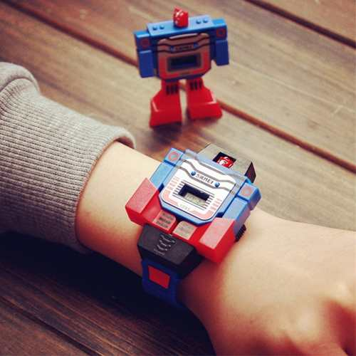 Reloj Digital Skmei  Para Niño Transformer Retro
