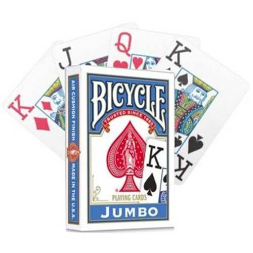 1 Baraja Bicycle Jumbo Rojo O Azul Para Poker O Magia