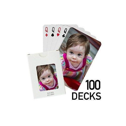 100 Mazos - Naipes Impresos Personalizados (100 Mazos De