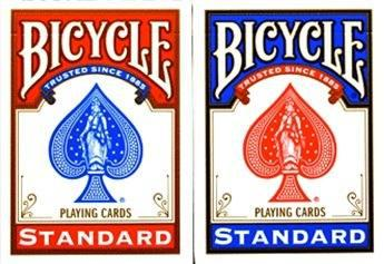 2 Mazos De Cartas Poker Bicycle Standar 1 Mazo Azul Y 1 Rojo