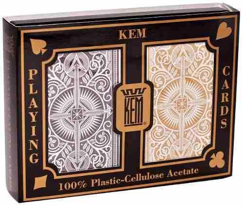 Kem Arrow Oro Y Platino 2 Barajas De Poker - Jumbo/estandar