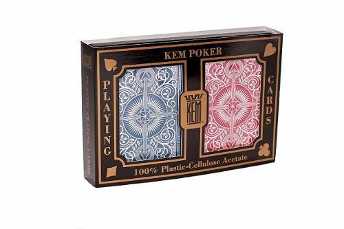 Kem Arrow Rojo Y Azul 2 Barajas Para Poker Jumbo/estandar