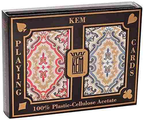 Kem Paisley - 2 Barajas De Poker Plasticas - Jumbo/estandar
