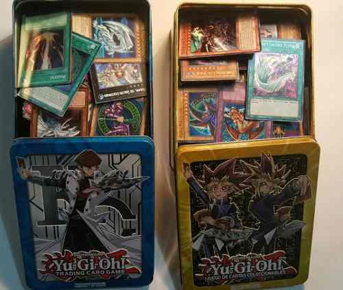 Lata 450 Cartas Yugioh (al Azar) + Blue Eyes White Dragon