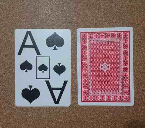 Naipes De Poker Con La Letra / Indices Gigante. Baja Vision