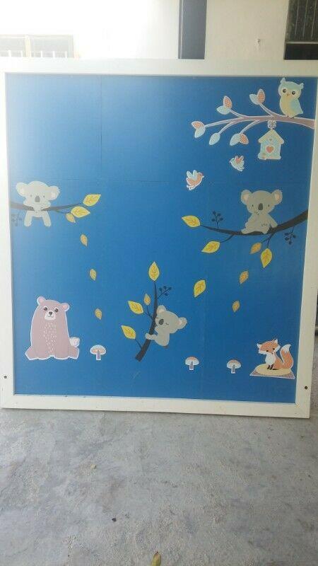 Panel de Madera ideal para decorar el cuarto de tu hijo