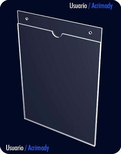 Porta Documentos Ó Porta Hojas En Acrílico De 2mm Carta.