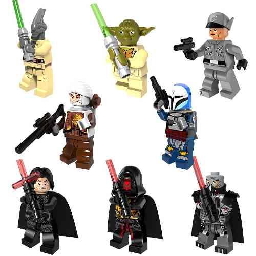 Set Star Wars 8 Figuras Compatible Bloques