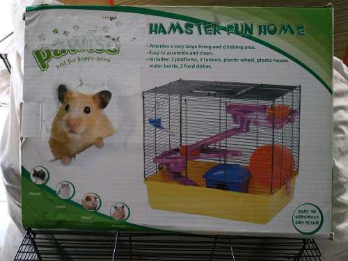 Jaula Para Hamster Grande Ratón Cuyo Gimnasio Rebajado