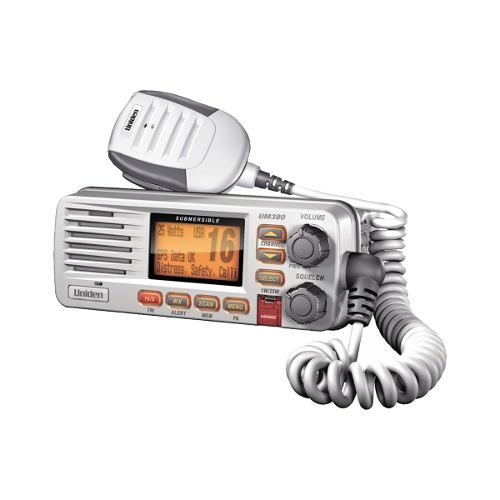 Radio Movil Marino Vhf 25w, Color Blanco Um380 Uniden