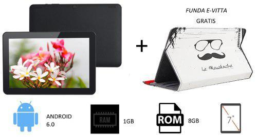 Tablet Android 6.0 Ram 1gb Hd 8 Gb 7 Inch + Funda Gratis