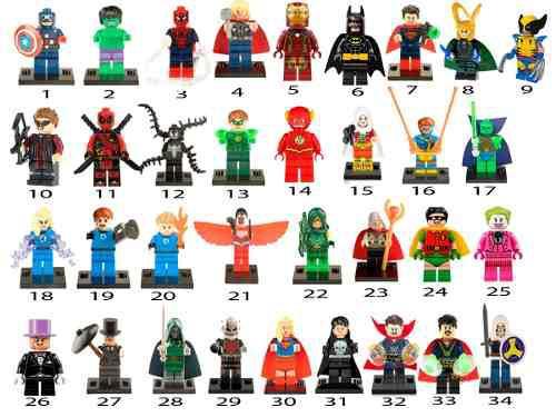 1 Figura A Elegir Compatible Con Lego Yoda Vader Marvel