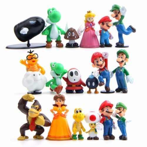 18 Figuras Mario Bros Set Luigi Mario Yoshi Envio Gratis Dhl