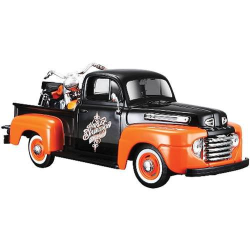 1948 Ford F1 Pick Up + Harley Davidson Flh Duo Maisto 1:24