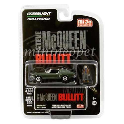 1968 Ford Mustang Gt Mcqueen Bullitt Greenlight 1:64 Figura