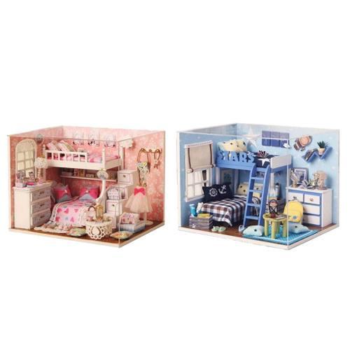 2 Piezas Conjunto Casa De Muñecas Miniatura Bricolaje Con M
