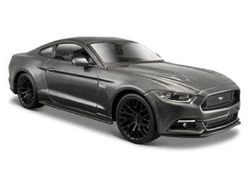 2015 Ford Mustang Gt Diecast Roadster Gris By Maisto 1:24