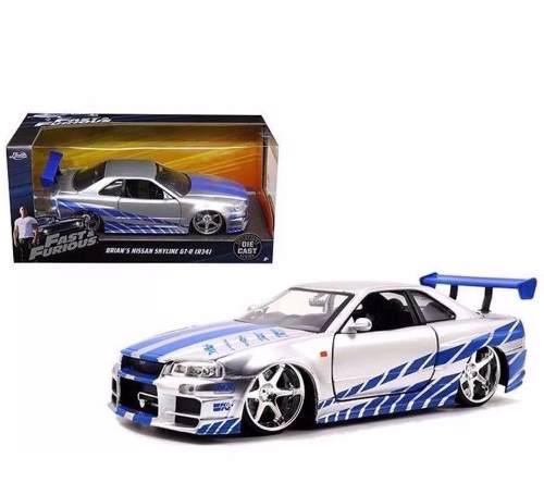 Brian's Nissan Skyline Gt-r R34 Rapido Y Furioso 1:24 Jada