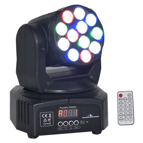 Cabeza Movil 12 Led 5w Wash Rgbw Disco Robotica Dmx Control