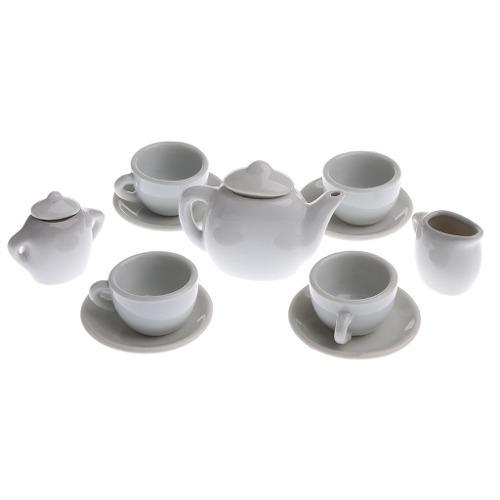 Conjunto De 11 Tazas De Té En Miniatura De Porcelana Blanc